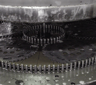 Carbide Insert process running on Stahli DLM 700 flat honing production machine made for precision.
