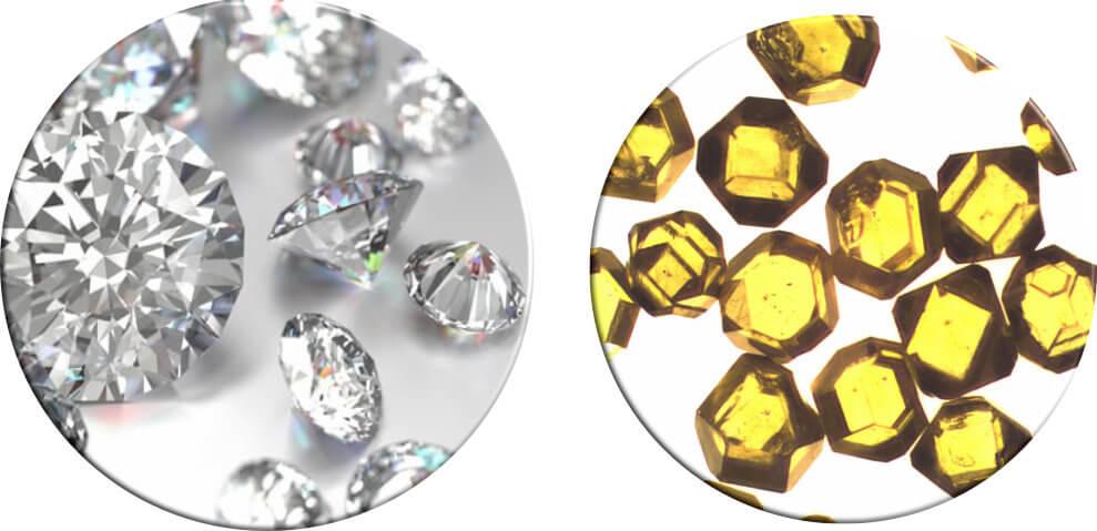Monocrystalline and Polycrystalline Diamond